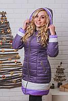 Пальто женское зимнее на синтепоне фиолет, фото 1