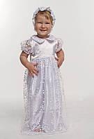 Комплект крестильное платье для девочки с гипюром белый