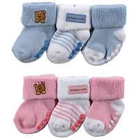 Набор тёплых носков для девочки 0-6 мес из Сша