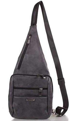 Стильный однолямочный рюкзак из качественного кожзаменителя МІС MS34206-9