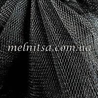 Фатин черный,  жесткий, ширина 1,8 м