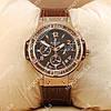 Стильные наручные часы Hublot Tutti Frutti AAA Gold/Brown 1245
