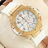 Стильные наручные часы Hublot Big Bang AAA White/Gold/White 1260