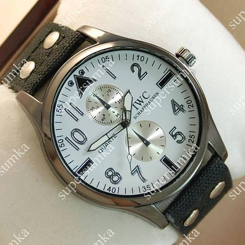 Модные наручные часы IWC Schaffhausen Black/Black Silver/White 3502