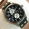 Практичные наручные часы IWC Schaffhausen Black/Black Silver/Black 3503