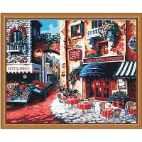 Набор для творчества Идейка Серия Городской пейзаж 40х50см, Кафе на углу улицы (MG078)