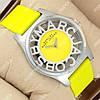 Яркие наручные часы Mark Jacobs Henry Skeleton Yellow 1015-0011