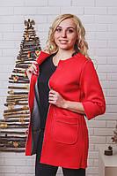 Пиджак удлиненный женский  красный, фото 1