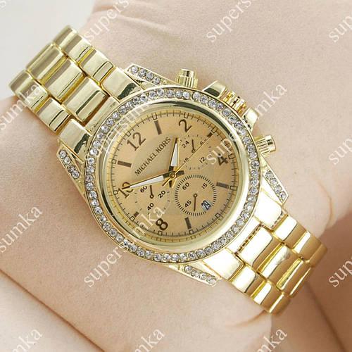Классические наручные часы Michael Kors Classic Gold Diamonds 1619