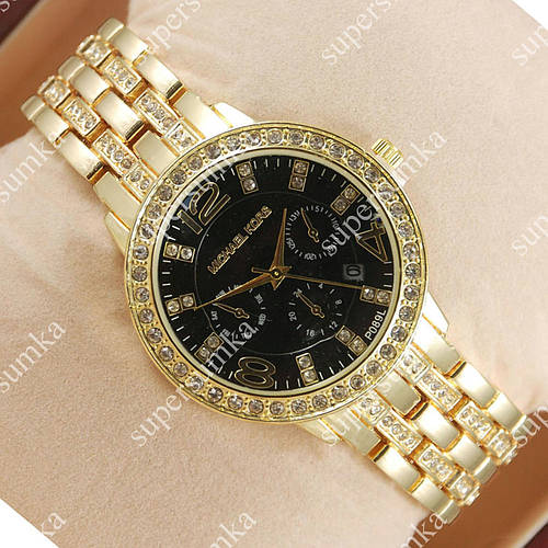 Деловые наручные часы Michael Kors Brilliant Gold/Black 1628