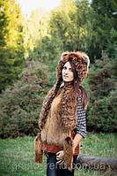 Шапка женская из натурального меха лисы