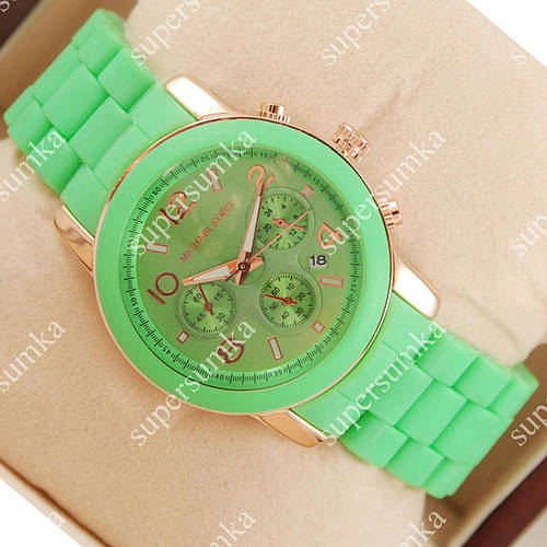 Яркие наручные часы Michael Kors Green 1636