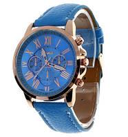 Стильные наручные женские часы Женева GENEVA Синие