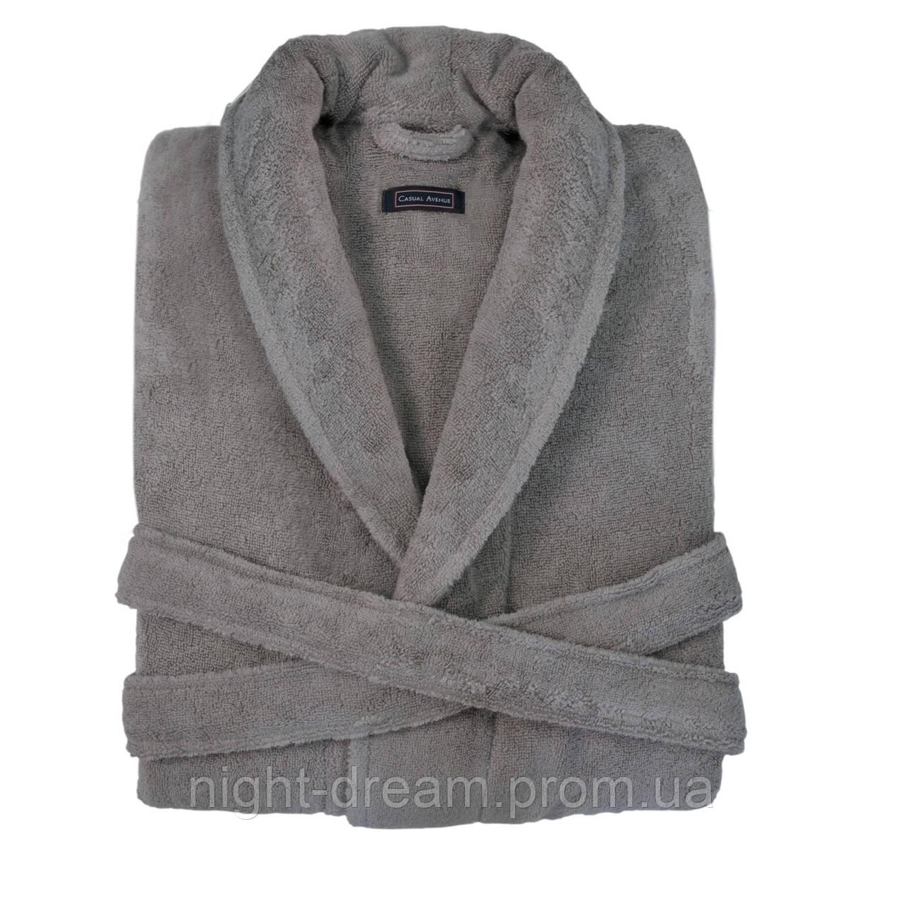 Женский махровый халат CASUAL AVENUE Chicago Warm Gray размер XL