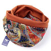 Двусторонний шарф-капюшон