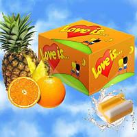 Блок жвачек Love is... со вкусом апельсина и ананаса