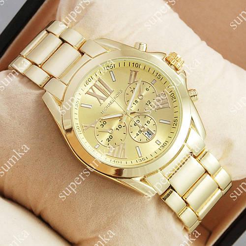 Модные наручные часы Michael Kors Gold/Gold 1658