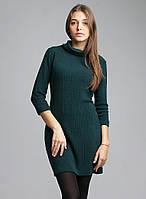 Стильное платье-туника из качественного трикотажа с четвертным рукавом