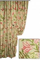 Ткань для штор, скатертей и оббивки мебели в стиле прованс, 70 % хлопок, бабочки в лесу, цвет № 1