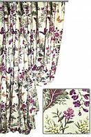 Ткань для штор, скатертей и оббивки мебели в стиле прованс, 70 % хлопок, бабочки в лесу, цвет № 2
