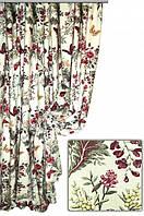 Ткань для штор, скатертей и оббивки мебели в стиле прованс, 70 % хлопок, бабочки в лесу, цвет № 3