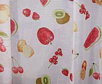 Тюль лен фрукты