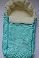 Меховой конверт Монти в санки или коляску