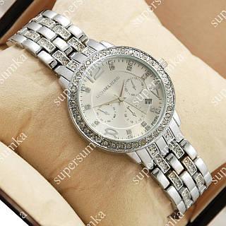 Стильные наручные часы Michael Kors Brilliant Silver/Silver 1697