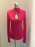 Водолазка гольф нарядная женская Balizza розовая