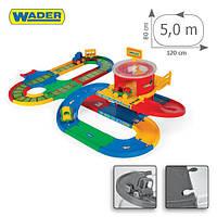 Игровой набор Wader - Kid Cars 3D ж/д вокзал с  трассой 5,5 м. для машинок.