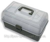 Ящик пластиковый 2-х полочный Flagman серый арт.36002
