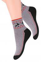 Махровые  носки с оленями steven