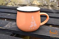 Необычная чашка кувшин с надписями городов