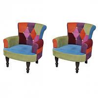 Крісла Печворк у французькому стилі, 2 шт
