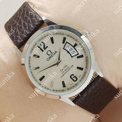 Практичные наручные часы Omega Chronometer Silver/White 1806