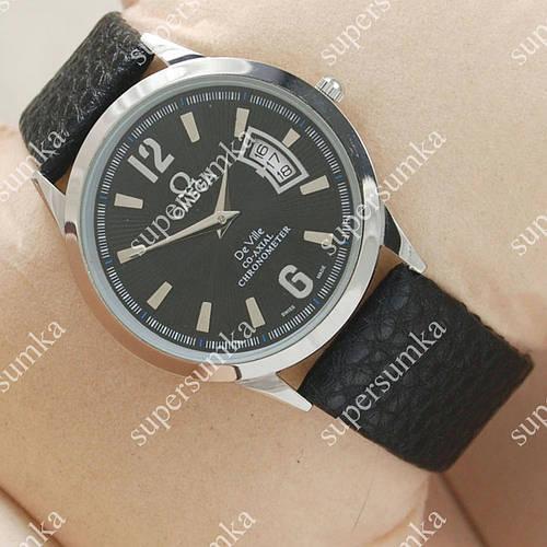 Классические наручные часы Omega Chronometer Silver/Black 1809