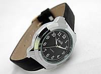 Часы мужские Luch (сделано в Белоруссии) серебристые с черным циферблатом