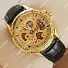 Яркие наручные часы Omega Gold/Gold Skeleton 1821