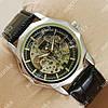 Стильные наручные часы Omega Black/Silver/Black Classic 1826