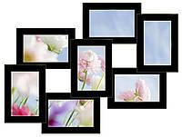 """Коллаж для фотографий на 7 фото""""7 чудес"""" (черный)"""
