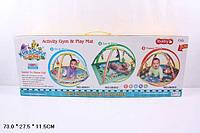 Коврик для малышей с погремушками 68002