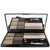 Malva - Набор для коррекции бровей Brow Artistry Palette M-478 №01 (светлые тона)
