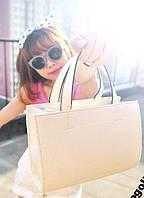 Повседневная стильная модная женская сумка , бежевая