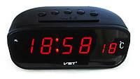 Автомобильные часы VST-803C с термометром