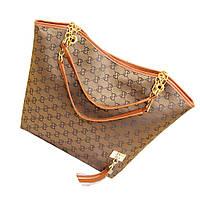 Модная женская Сумка в стиле Gucci , коричневая