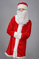 Детский карнавальный костюм Дед мороз детский красный