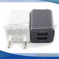 Сетевое зарядное устройство USB, 5V 2.1A (2USB), кубик
