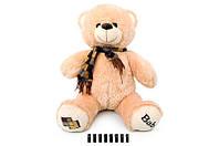 Мишка с шарфом 60см. серый 120260