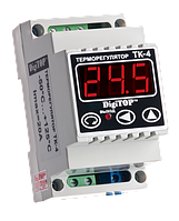 Терморегулятор ТК-4, 10А, от -50 до +125 градус.,для установки на DIN-рейку