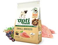 Полнорационный сухой корм для взрослых собак маленьких пород Optimeal  12 кг